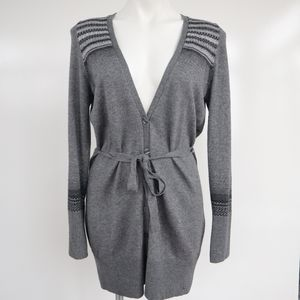 S. OLIVER Stylish Partial Striped V Cardigan